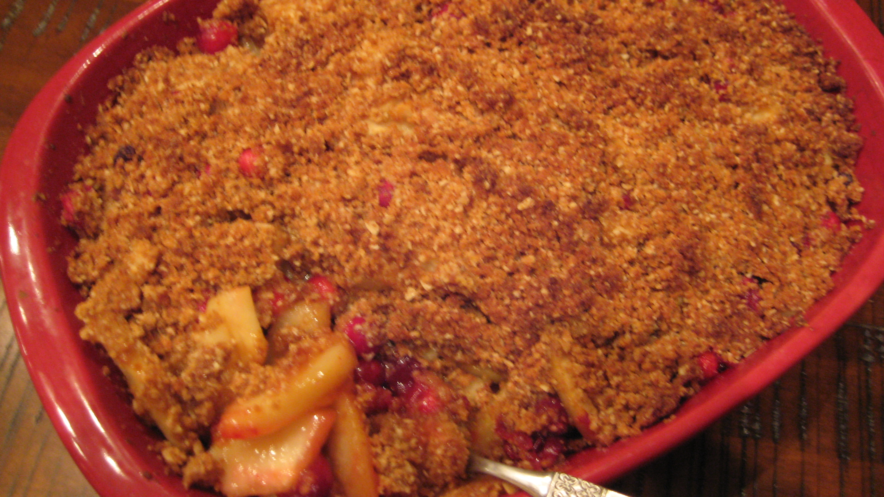 The Kitchen Thanksgiving Recipes Pear Cranberry Crumble